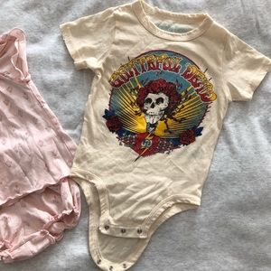 Rowdy Sprout One Pieces - Grateful Dead Rowdy Sprout Onesie 3-6mo